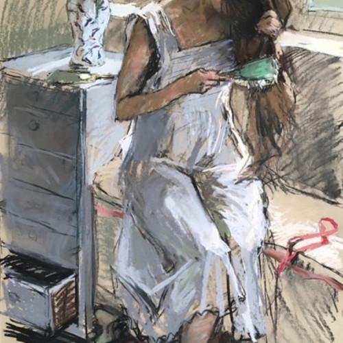 Valeriy Gridnev - The Girl Brushing her Hair (Hungerford Gallery)