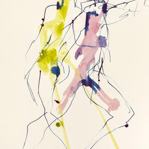 Bella Pieroni - Dancing at Dragobete II (Framed) (London Gallery)