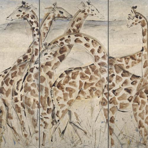 Christine Seifert - Six Giraffes (Triptych)