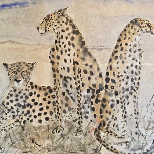 Christine Seifert - Three Cheetah (London Gallery)