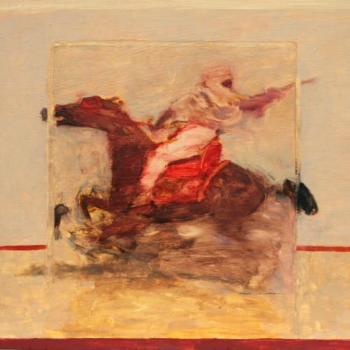 Antoine de La Boulaye - Orientalist Horseman VII (Hungerford Gallery)