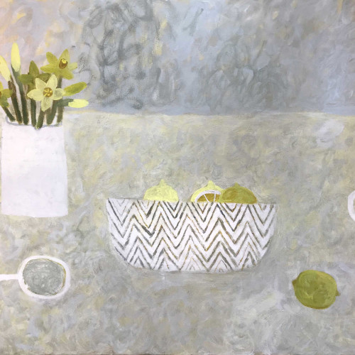 Sarah Bowman - Daffodils and Lemons II (Hungerford Gallery)