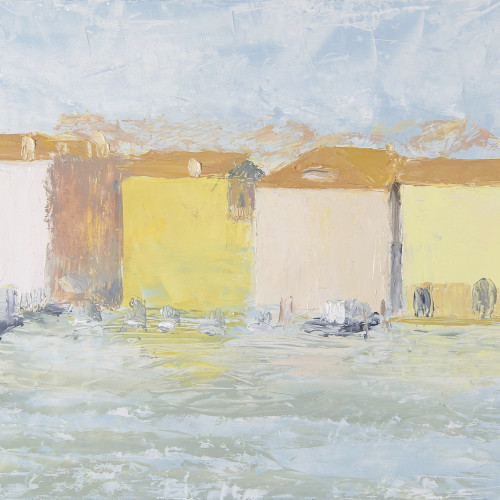 Celia Montague - February Light on San Basilio (Hungerford Gallery)