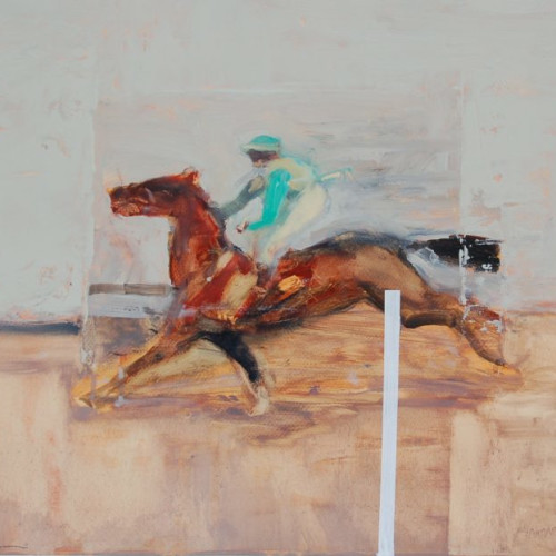 Antoine de La Boulaye - Jockey in Green Colours (London Gallery)