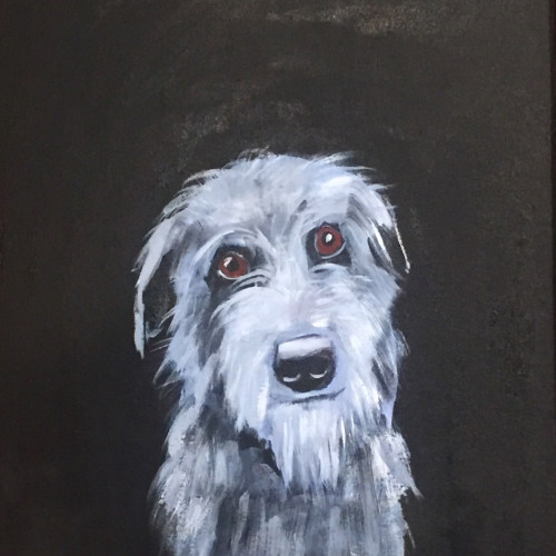 Robert James Clarke - Deerhound (Hungerford Gallery)