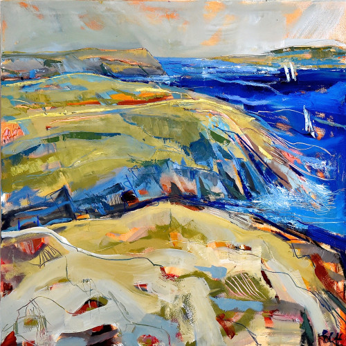 Emma Haggas - Sailboats off the Cornish Coast