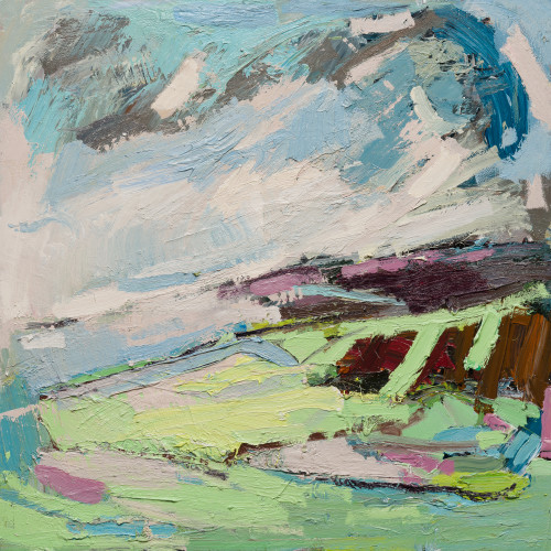 Paul Wadsworth - Moorland Late Summers Green (London Gallery)