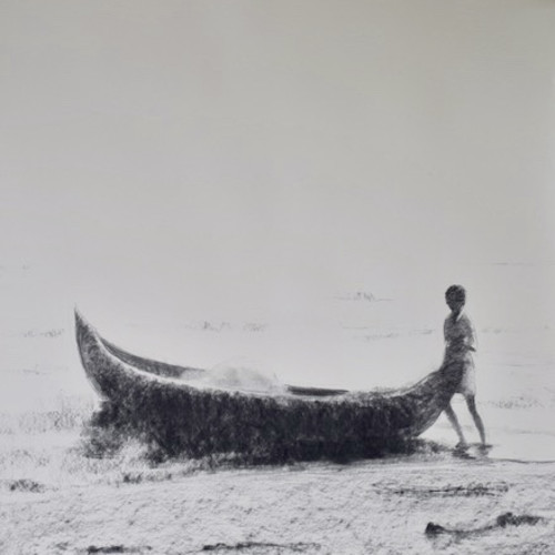 Clare Granger - Boy with Fishing Boat (London Gallery)