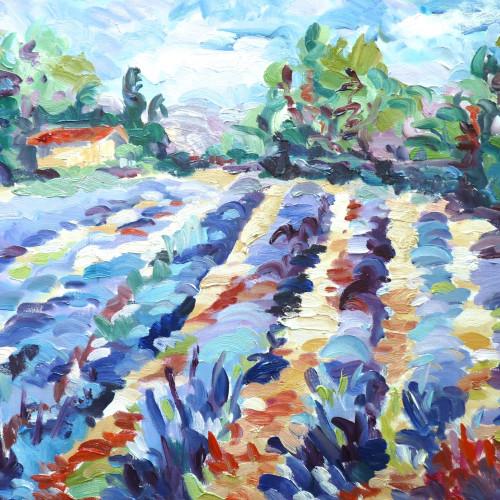 Fi Katzler - Lavender near Bonnieux (London Gallery)