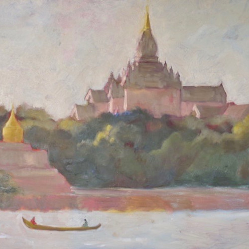 Clare Granger - Stupa in the Sun (Hungerford Gallery)