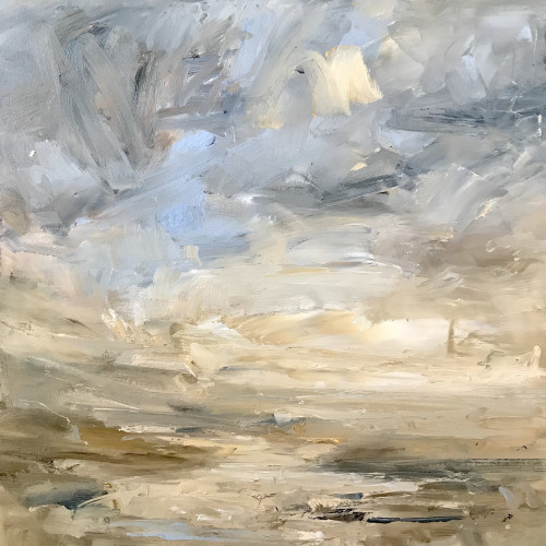 Louise Balaam - Pale Gold and Blue, Coast
