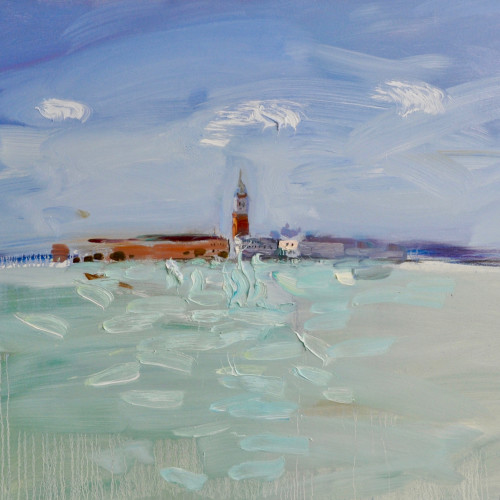 Richard Colson - The Campanile, Venice from Giudecca I (Hungerford Gallery)