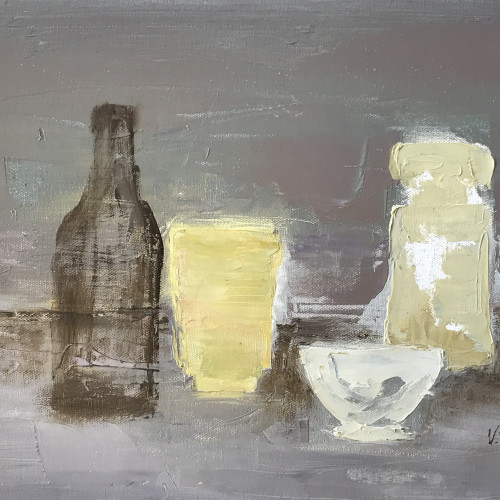 Val Pitchford - Brown Bottle (Hungerford Gallery)