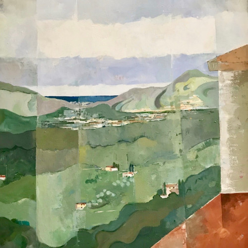 Angela Wilson - View to Camirore, Tuscany (Hungerford Gallery)