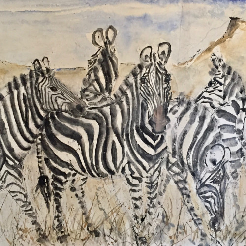 Christine Seifert - Zebras (London Gallery)