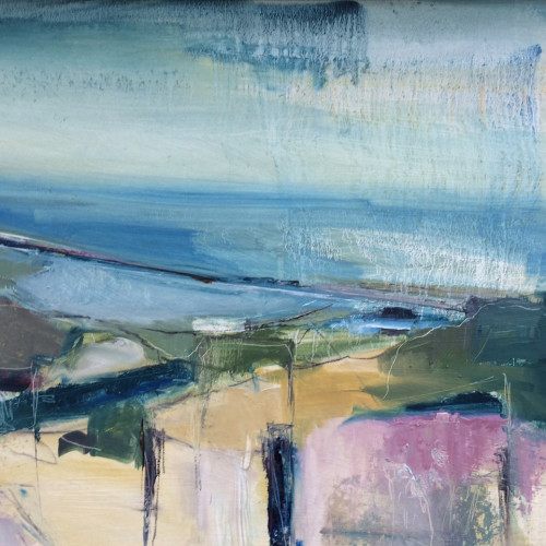 Jo Vollers - Looking across to Chesil Beach (London Gallery)