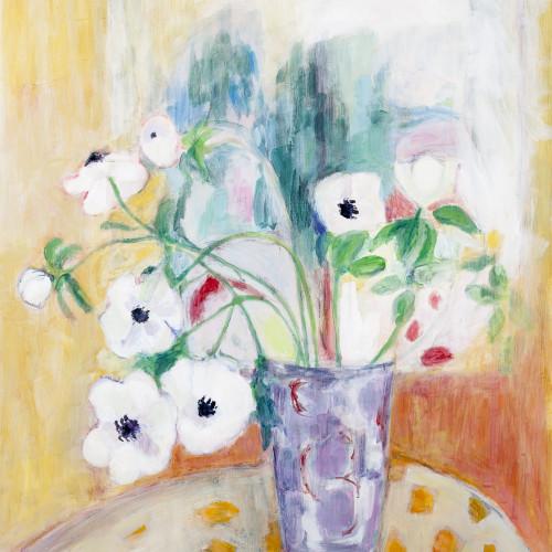 Belinda Rayner - Mauve Vase with Anemones