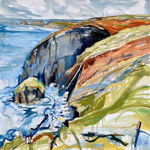 Emma Haggas - Cliffs at Beeny, North Cornwall (Hungerford Gallery)
