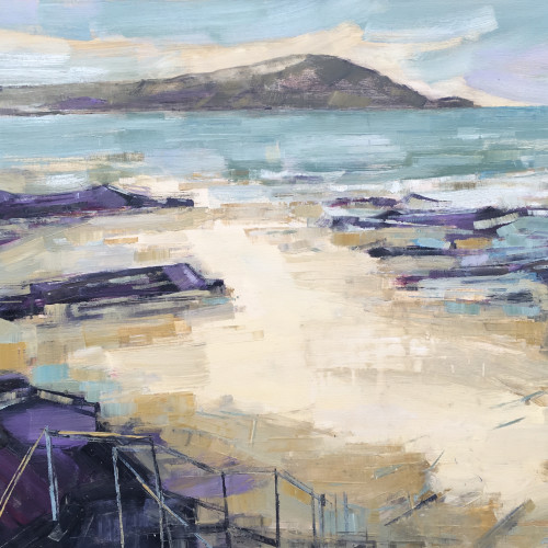 Kate Rhodes - Steps Down, Camel Estuary (Hungerford Gallery)