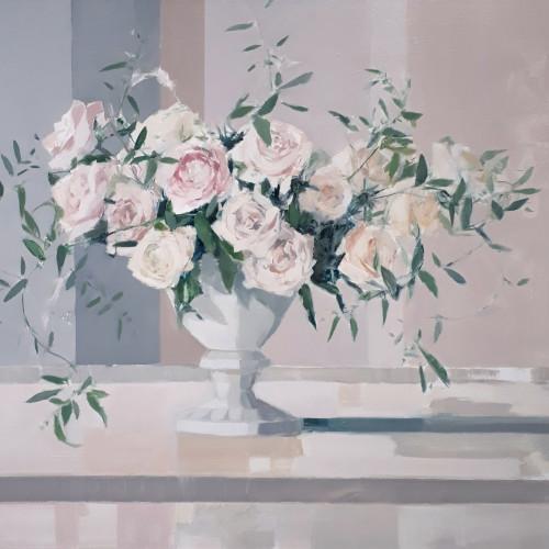 Myles Oxenford - Garden Roses & Jasmine (Hungerford Gallery)