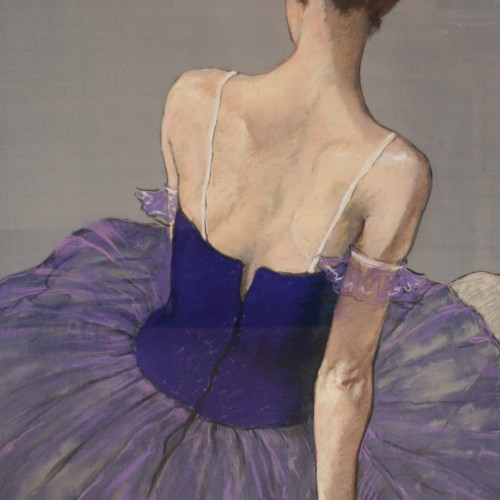 Katya Gridneva - Ballerina in Purple (Hungerford Gallery)