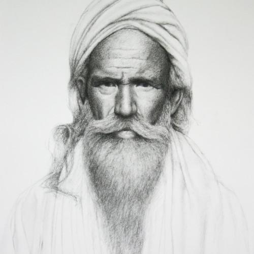 Mark Clark - Rajasthani Man (Hungerford Gallery)