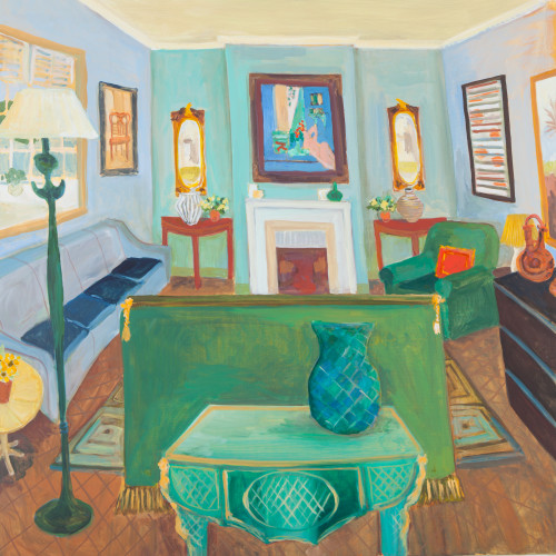 Lottie Cole - London Interior - with Matisse Reclining Nude and Giacometti Lamp