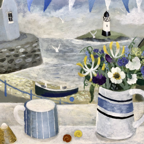 Sarah Bowman - Summer Flowers and Seashells (Hungerford Gallery)