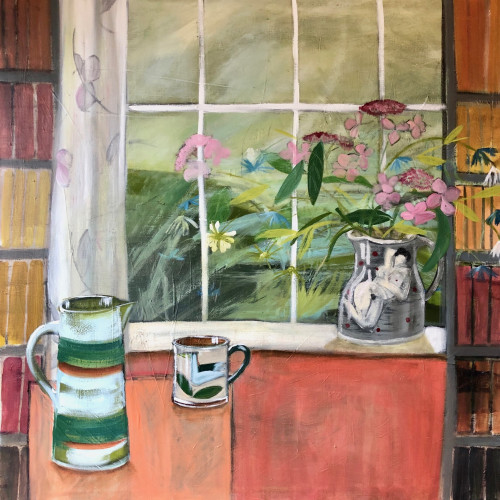 Kim Langford - Relaxing in the Library (London Gallery)