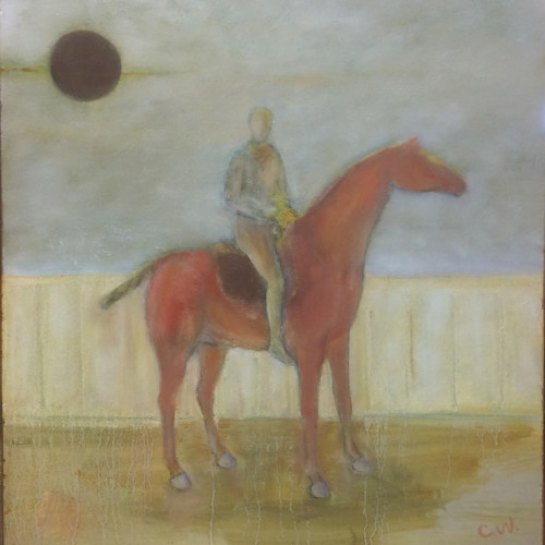 Colin Williams - Horse and Rider (Hungerford Gallery)