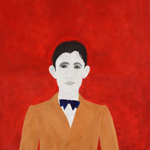 Kate Boxer - Frederico Garcia Lorca (acrylic ink on canvas) (Hungerford Gallery)