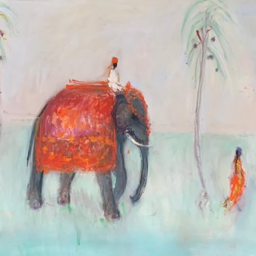 Ann Shrager - Man on an Elephant (London Gallery)