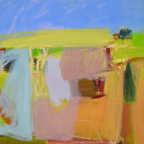 Dafila Scott - Going up the Hill in Summer (London Gallery)