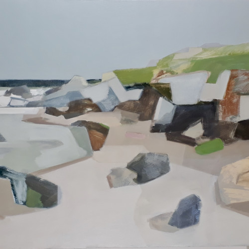 Myles Oxenford - Porthmeor, Mid Tide (Hungerford Gallery)