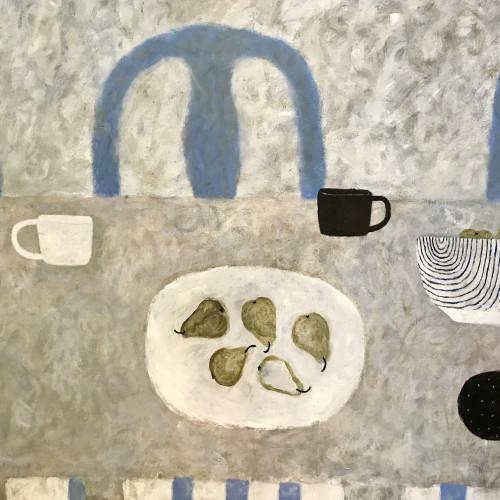 Sarah Bowman - Ripple Bowl and Pears (London Gallery)
