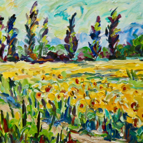 Fi Katzler - Sunflowers, St Remy, Provence (London Gallery)