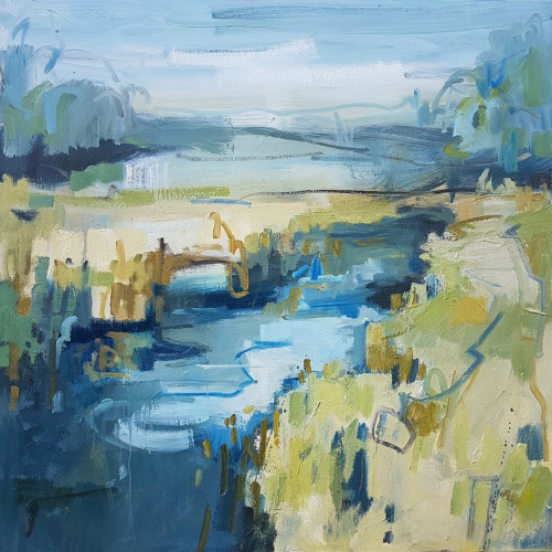 Kate Rhodes - Blue Reed (Hungerford Gallery)