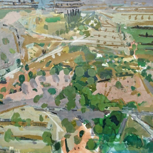 Ian Norris - Hillside Terraces (Hungerford Gallery)