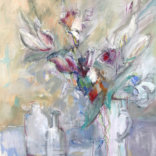 Annie Field - Glass Jug with Flowers (London Gallery)