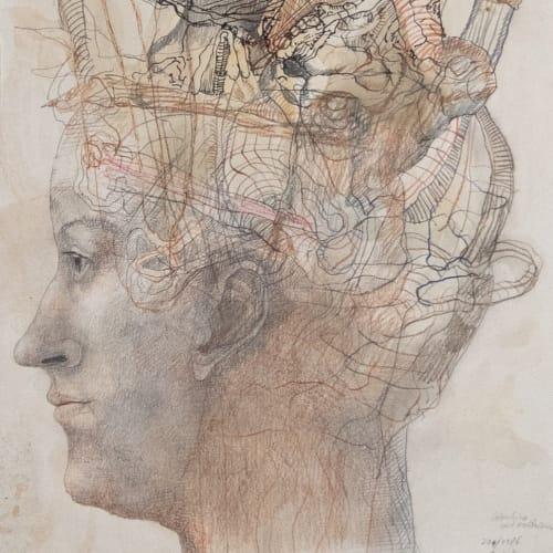 Colombina mit Hochfrisur (1986)
