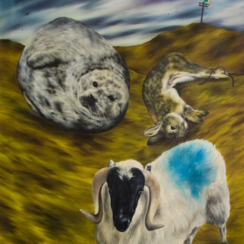 Dermot Seymour, The Sheep that are Dyed Blue Belong to Hammy Sloan, 1987