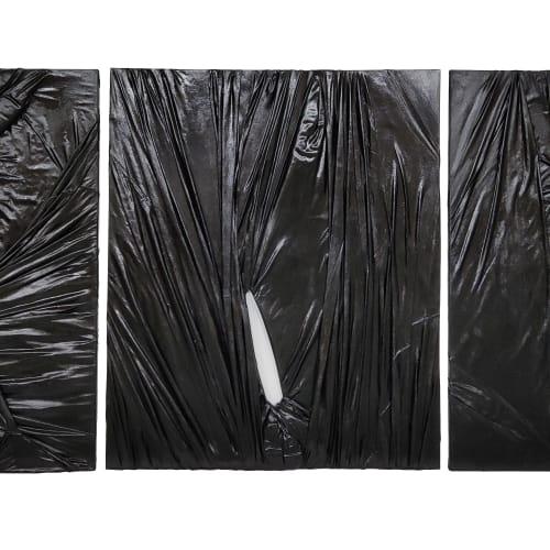 Stella Zhang 0-Viewpoint-8-1 , 2 , 3, Mixed Media, 183 x 152 cm (each), 2015