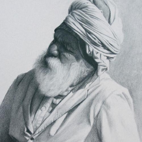Mark Clark - Rajasthani Man II, Jodhpur (Hungerford Gallery)