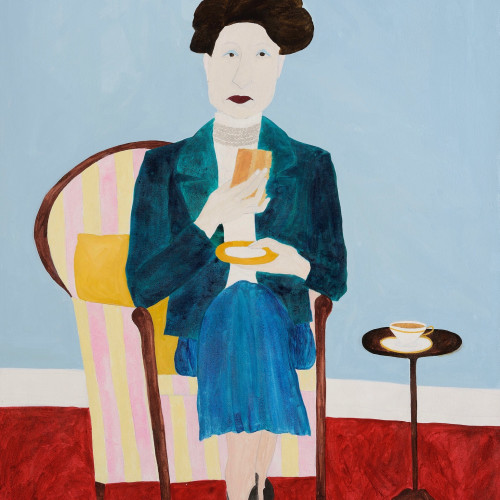 Kate Boxer - Constance Spry (acrylic ink on canvas) (Hungerford Gallery)