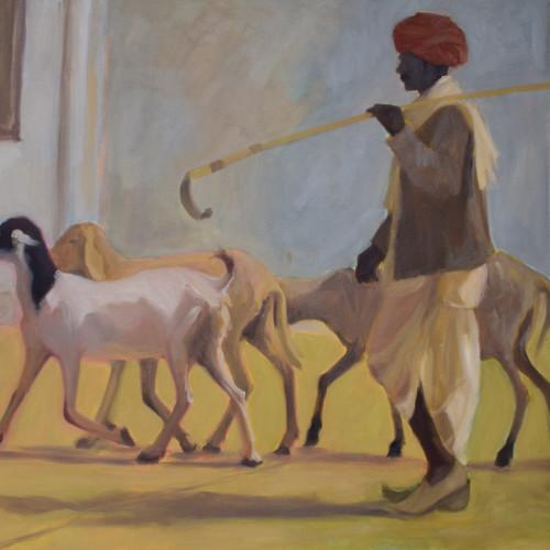 Clare Granger - Herding Goats (Hungerford)