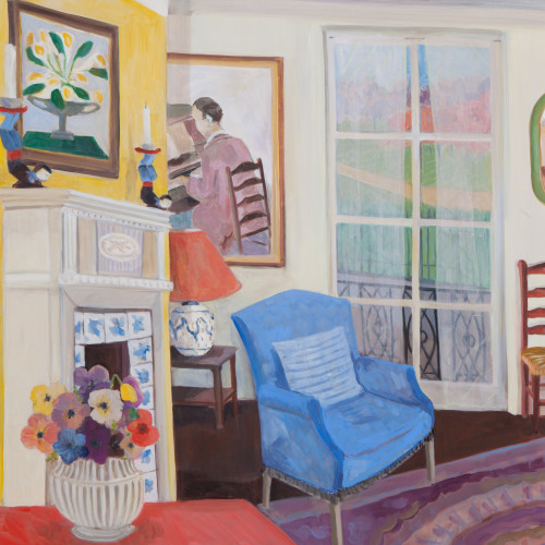 Lottie Cole - Interior with Vanessa Bell, Gluck and Anemones