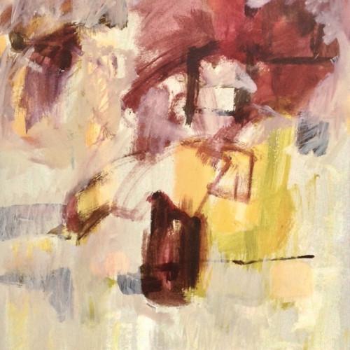 Margaret Devitt - Abstract Still Life with Dark Red
