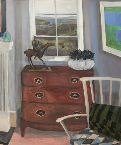 Lottie Cole, Interior with Elisabeth Frink Horse and Rider, Patrick Heron and Atlantic View (London Gallery)