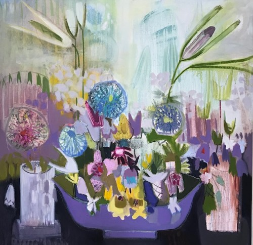 Annabel Fairfax, Mauve Bowl (Hungerford Gallery)