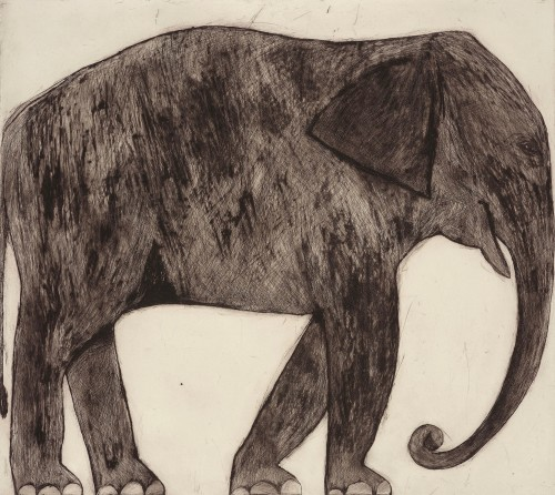 Kate Boxer, Elephant (Mounted)